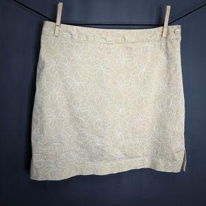EP Pro Skort Shorts Size 8 Tan Womens Floral Golf